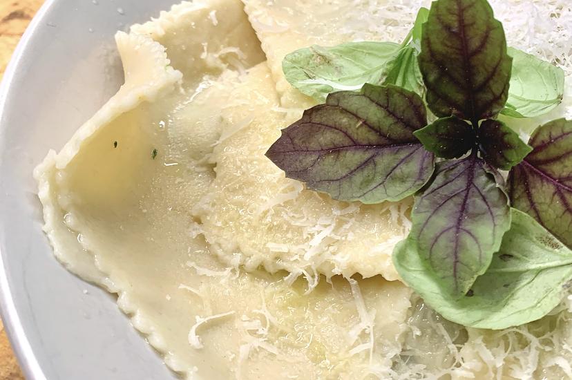 Spinach and Ricotta Homemade Ravioli