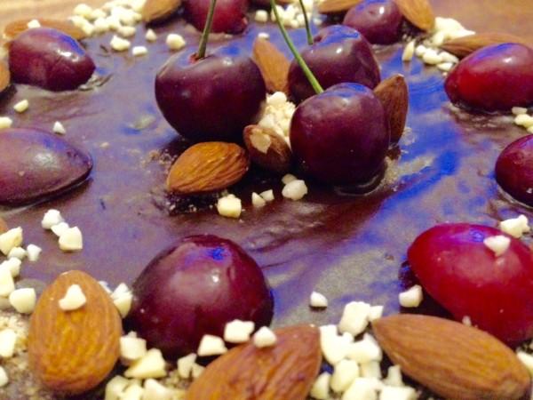 Chocolate Almond and Cherry Rum Cake